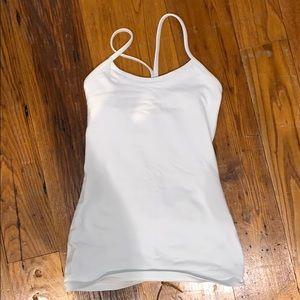 Lululemon White Tank Top Size 2